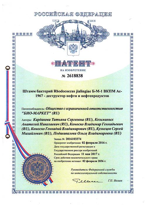 Патент на изобретение № 2618838